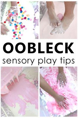 Learn how to make oobleck with a simple oobleck recipe and helpful tips for extending playtime with this fun sensory activity for kids.