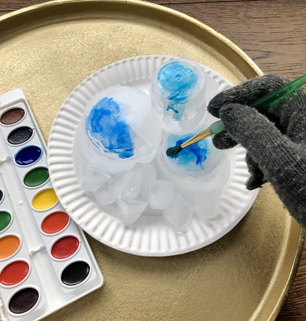 Painting Ice Sensory Art for Kids