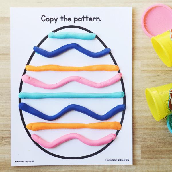 Pattern Easter Egg Fine Motor Activity for Preschool