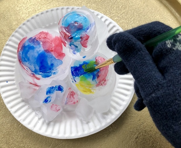 Winter Ice Painting Art Project for Kids