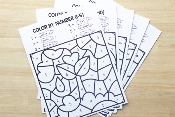 Differentiated Color by Code Games for Earth Day-No Prep Free Printable Earth Day Activities