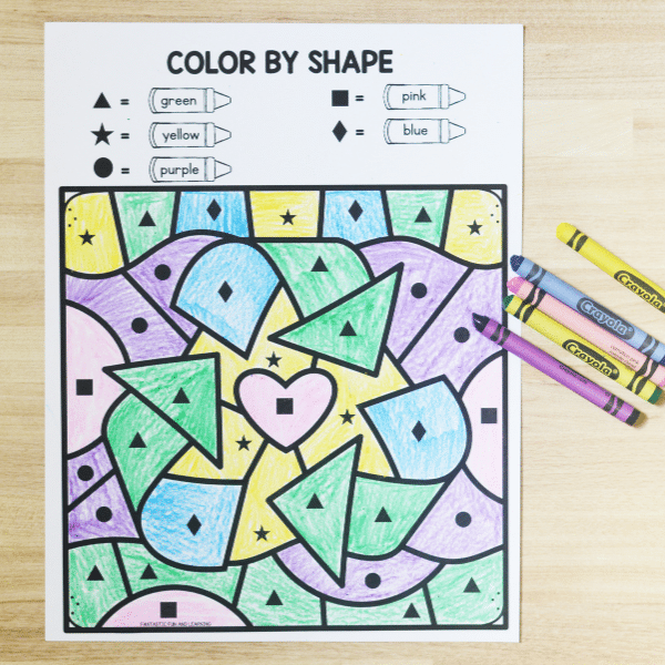 Free Printable Color by Code Earth Day Worksheet