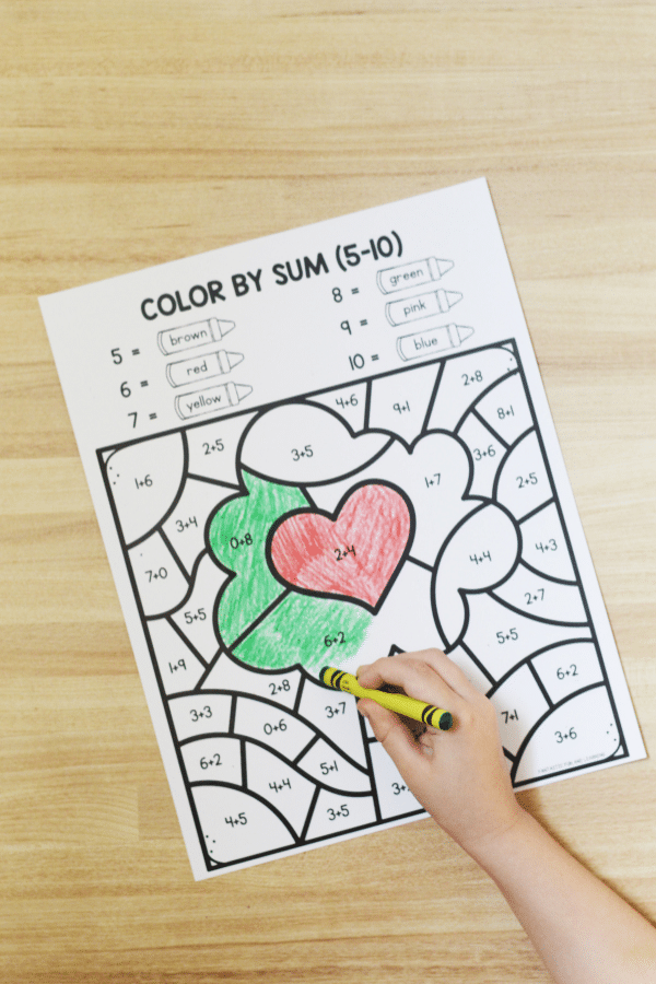 Free printable Easter Color by Code Worksheets for Preschool and Kindergarten