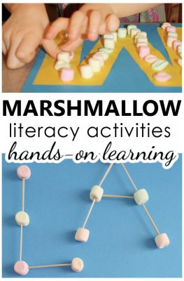 Marshmallow Literacy Alphabet Letter M Activities for Preschool and Kindergarten