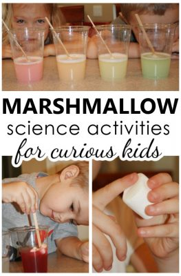Marshmallow Science Activities for Curious Kids-Preschool and Kindergarten Science Experiments and Fun with Marshmallows