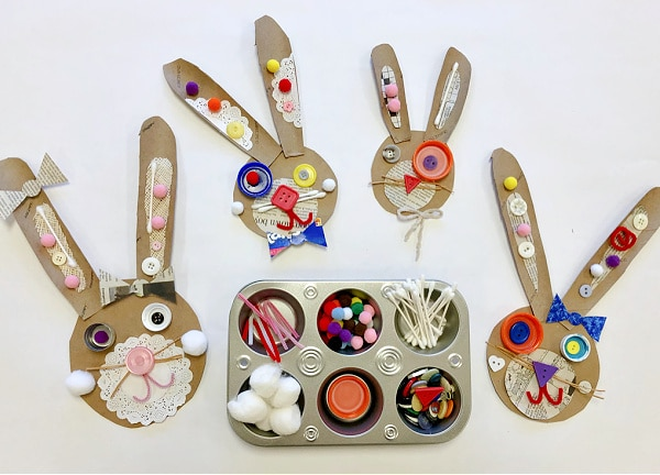 Recycled Rabbit Easter Craft Art Project for Kids