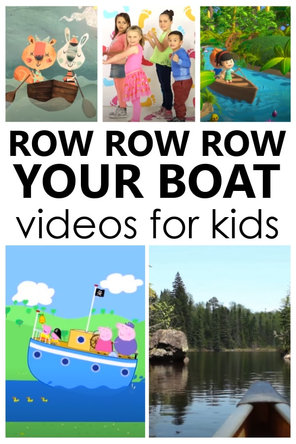 Row Your Boat books and videos with ASL for kids. Perfect for preschool nursery rhyme theme activities.