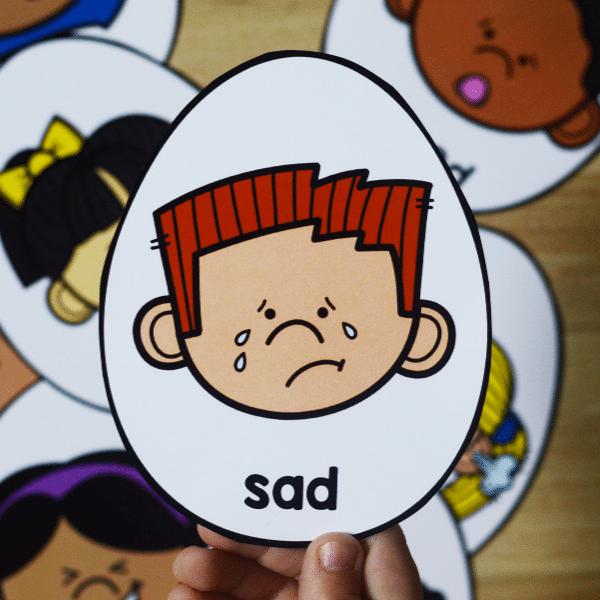 Humpty Dumpty Emotions Sensory Play-Social Emotional Development for Preschool