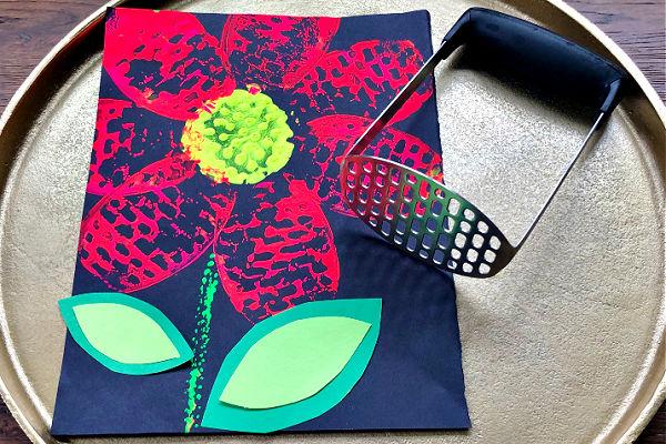 Potato Masher Flower Craft for Kids