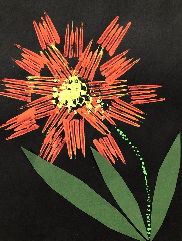 Printmaking Art Project for Kids-Spring Flower Craft