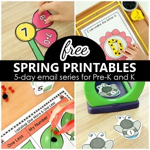 Free Spring Printables for Preschool and Kindergarten