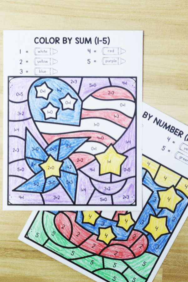 Free printable download-4th of July math worksheets