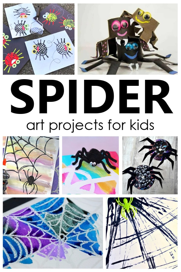 Spider Art Projects for Kids-16 creative spider process art and spider crafts for kids