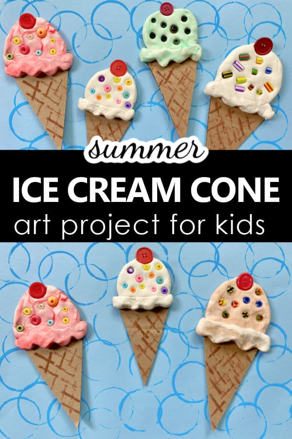 Summer Ice Cream Cone Art Project for Kids