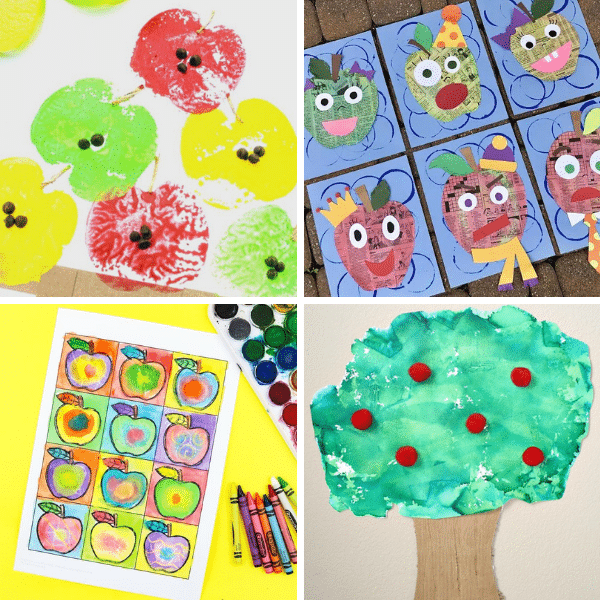 Apple Art Projects and Apple Crafts for Kids