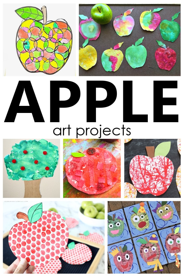 Apple Art Projects for Kids.  Choose from 16 apple theme art projects in this collection of creative apple art projects and apple crafts for kids. Process art and open-ended art projects ideal for preschool and kindergarten.