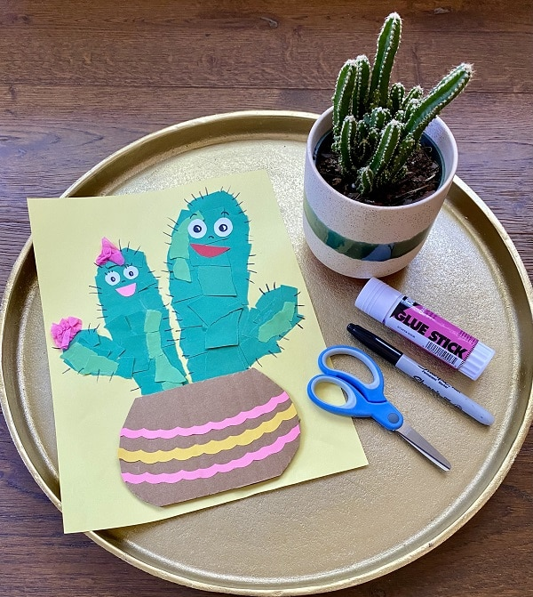 Cactus Friends Paper Craft for Kids