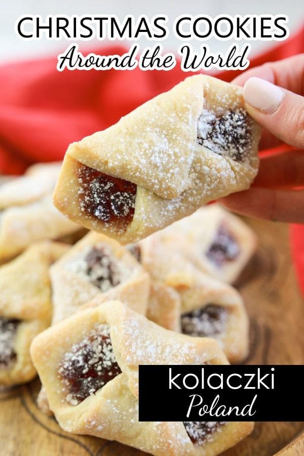 Christmas Cookies Around the World-Polish Kolaczki Cookie Recipe