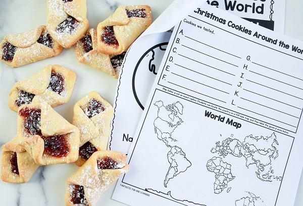 Christmas Cookies Around the World Taste Test Journal for Kids