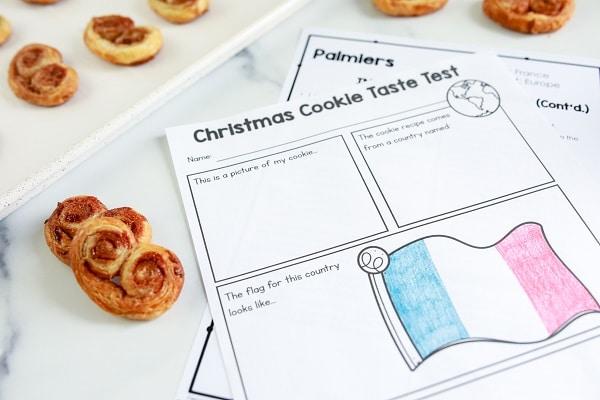 Free Printable Christmas Cookies Around the World Taste Test Recording Sheet
