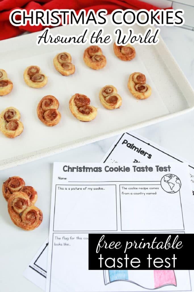 Free Printable Taste Test Recording Sheet Christmas Cookies Around the World