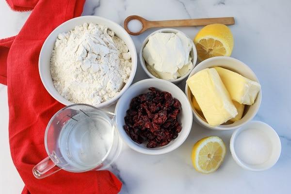 Ingredients for Kolaczki Recipe-Christmas Cookies Around the World