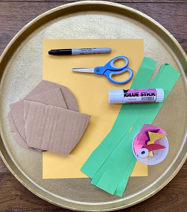 Materials for Cactus Craft for Kids