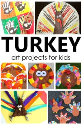 Turkey Art Projects and Turkey Crafts for Kids Thanksgiving Activities