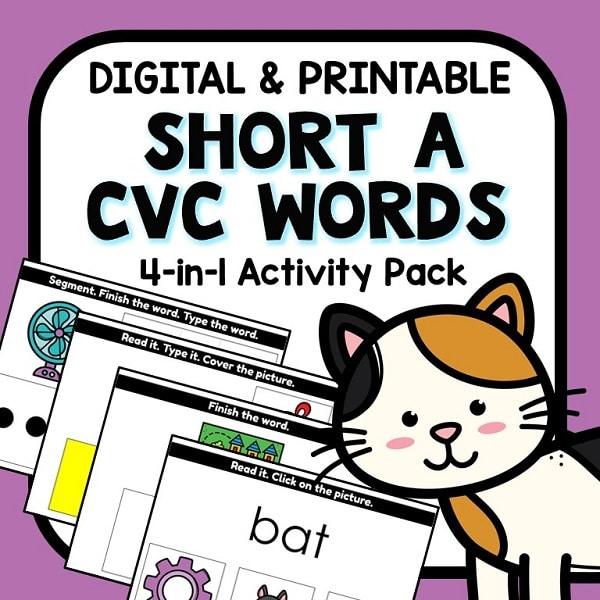 4-in-1 CVC Short A Digital Activities Bundle