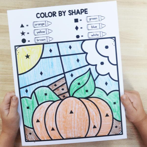 Fall Color by Code Activities for Preschool, PreK and Kindergarten