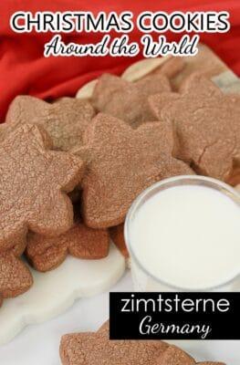How to Make Christmas Cookies-German Zimtsterne