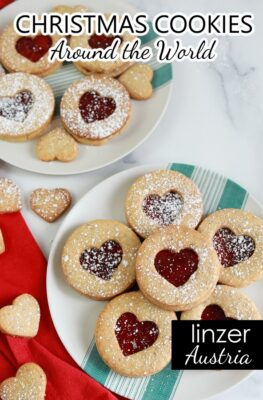 How to make Austrian Linzer Cookies Recipe Christmas Around the World Cookie Recipes