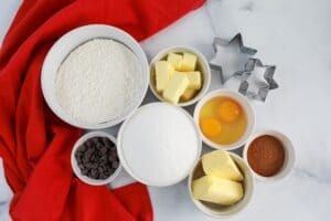 Ingredients for Zimtsterne Cookie Recipe-Easy Christmas Cookies to Bake with Kids