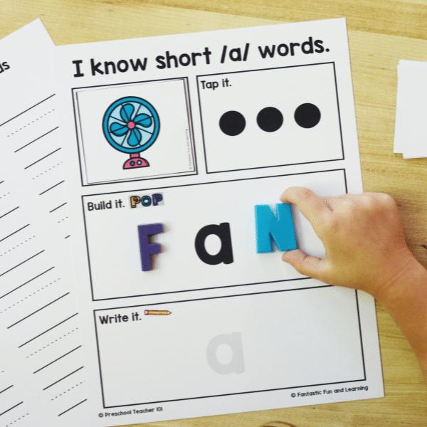 Magnetic Letter Activities for CVC Practice in Kindergarten