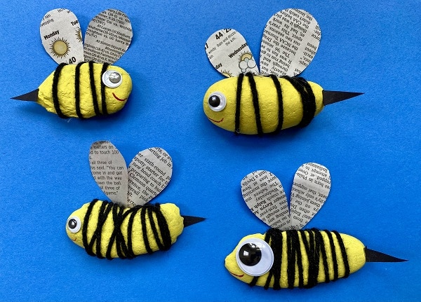 Painted Rock Bee Craft for Kids