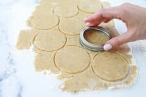Step 8-Cut cookies for linzer cookie recipe
