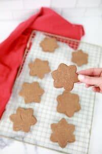 Step 9-Bake Zimtsterne Cookies-Easy Christmas Cookie Recipe