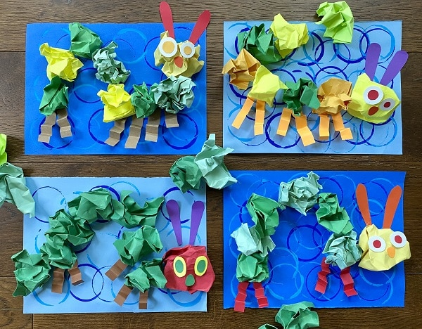 Easy Caterpillar Craft for Kids-Fine Motor Project