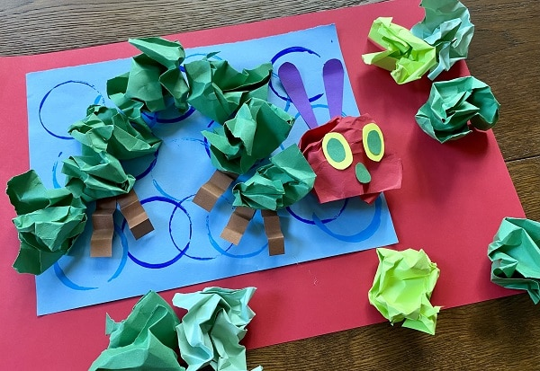 Easy Paper Craft for Kids-Book Inspired Very Hungry Caterpillar Craft
