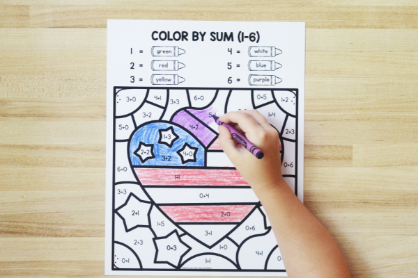 Free printable Veterans Day math for kids