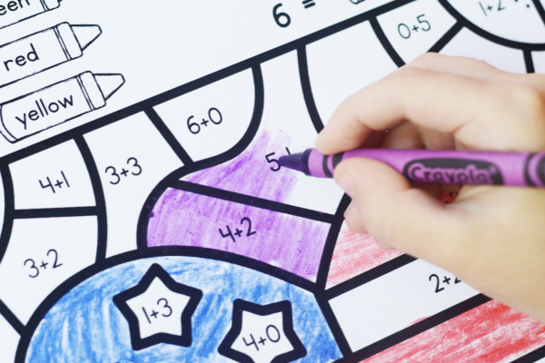 Free printable Veterans Day math worksheets for kindergarten and first grade