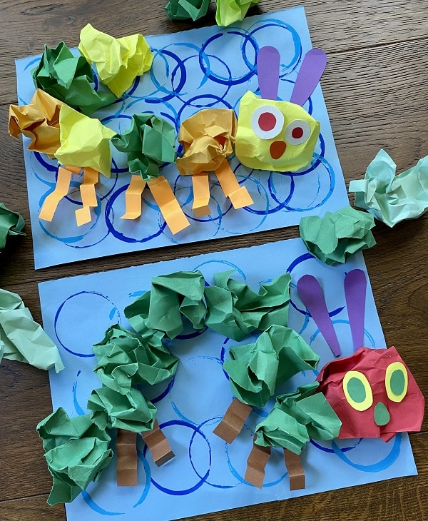 Paper Craft for Kids-Caterpillar Fine Motor Activity